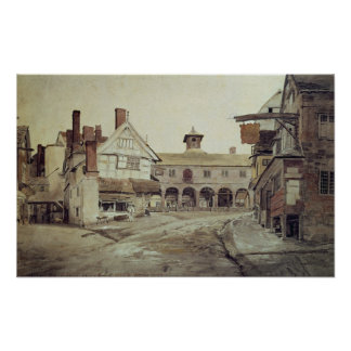 Market Place, Hereford, 1803 Poster