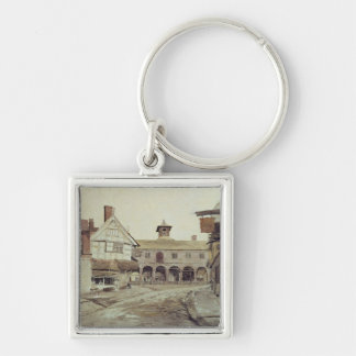 Market Place, Hereford, 1803 Silver-Colored Square Keychain