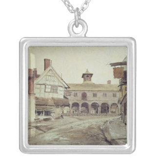 Market Place, Hereford, 1803 Silver Plated Necklace