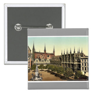 Market Place I., Lubeck, Germany magnificent Photo Button