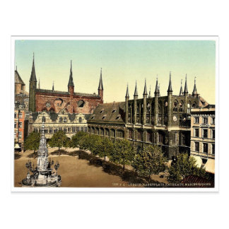 Market Place I., Lubeck, Germany magnificent Photo Postcard