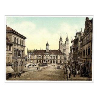Market place, Madgeburg, German Saxony, Germany ma Postcard