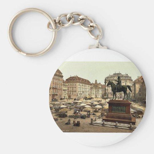 Market place, Vienna, Austro-Hungary magnificent P Keychain