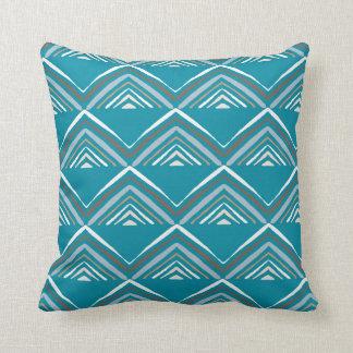 Market Pyramid-Blue Throw Pillow