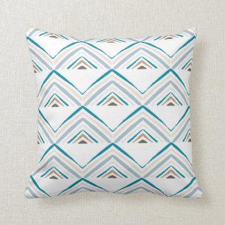 Market Pyramid-White Throw Pillow