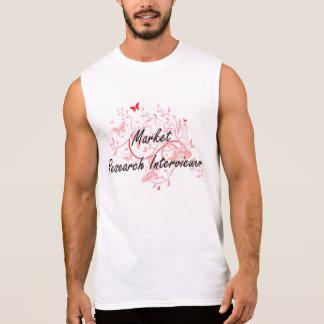 Market Research Interviewer Artistic Job Design wi Sleeveless Shirt