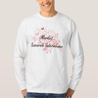 Market Research Interviewer Artistic Job Design wi T-Shirt