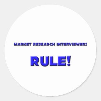 Market Research Interviewers Rule! Sticker