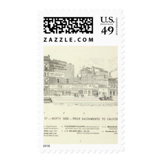 Market, Sacramento and California North Side Stamps