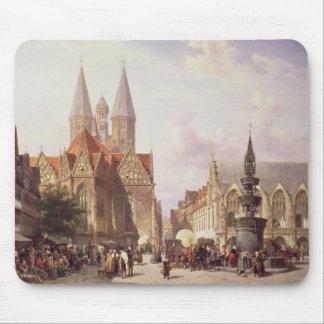 Market Scene at Braunschweig Mouse Pad