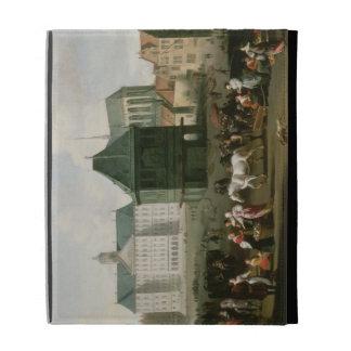 Market Scene before the Dam Palace, Amsterdam iPad Case