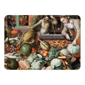 """""""Market Scene"""" vintage art invitations"""