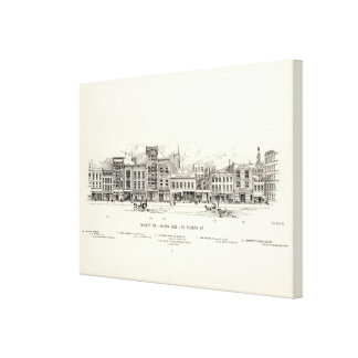 Market South side to 4th Canvas Print
