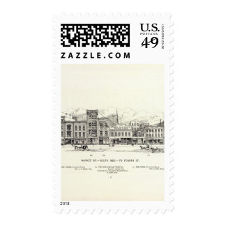 Market South side to 4th Postage Stamps