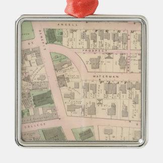 Market Square Brown University Court House Metal Ornament