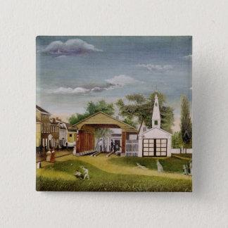 Market Square, Germantown, Pennsylvania Pinback Button