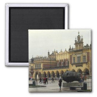 Market Square in Krakow 2 Inch Square Magnet