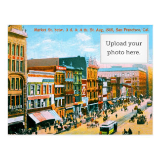 Market St. betw. 3d & 4th St Postcard