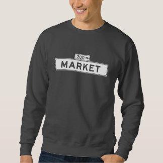 Market St., San Francisco Street Sign Sweatshirt