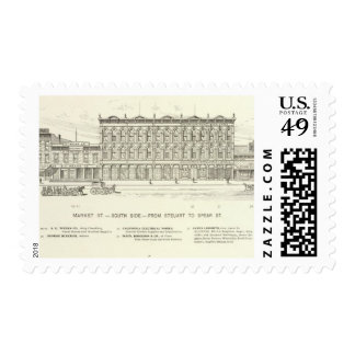 Market, Steuart and Spear South Side Postage Stamps