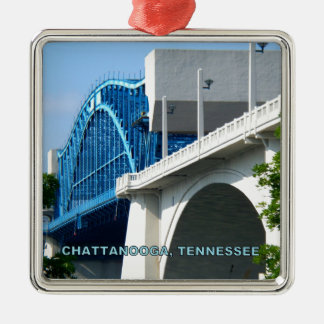MARKET STREET BRIDGE - Chattanooga, TN Metal Ornament