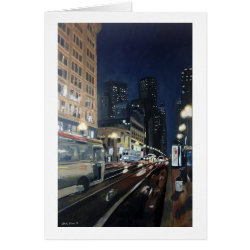 """Market Street"" by Trina Chow Greeting Card"