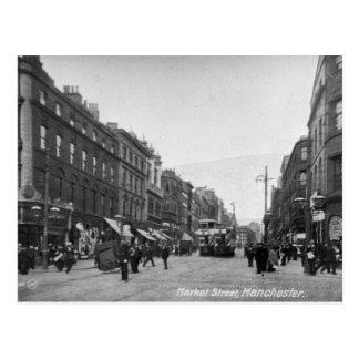 Market Street, Manchester, c.1910 2 Postcard