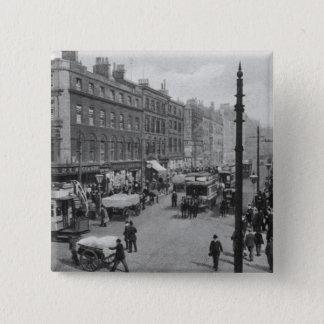 Market Street, Manchester, c.1910 Pinback Button