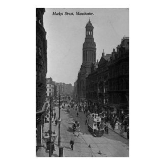 Market Street, Manchester, c.1910 Poster