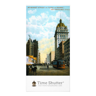 Market Street near Third and Kearny Personalized Photo Card