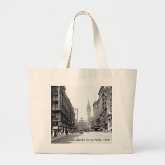 Market Street, Philly, 1910s Canvas Bags