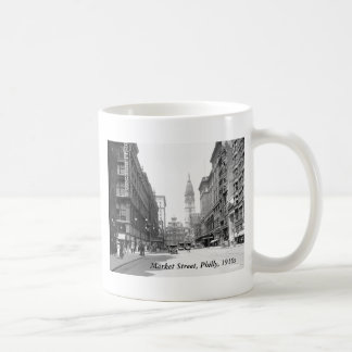 Market Street, Philly, 1910s Coffee Mug