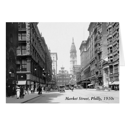 Market Street, Philly, 1910s Greeting Card