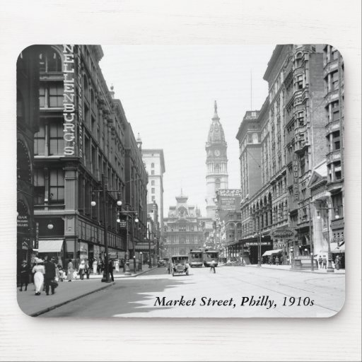 Market Street, Philly, 1910s Mousepads