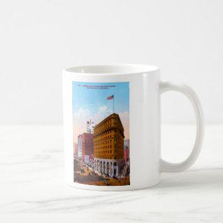 Market Street West from Montgomery, San Francisco, Classic White Coffee Mug