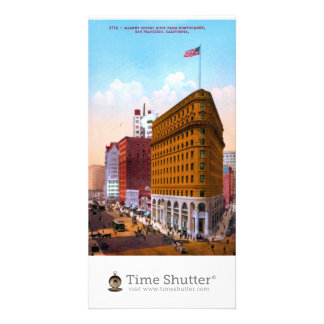 Market Street West from Montgomery San Francisco Customized Photo Card