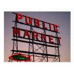 Market Sunset Post Card