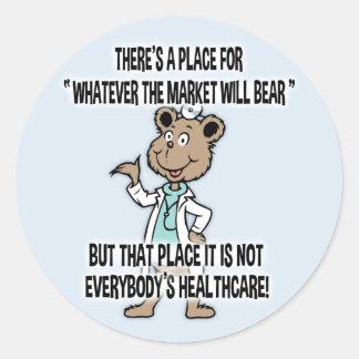 Market Will Bear Classic Round Sticker