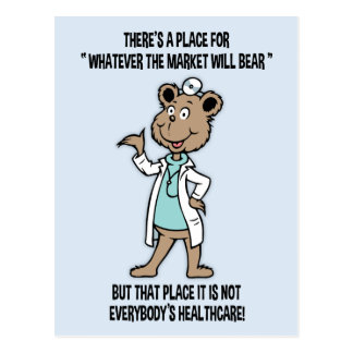 Market Will Bear Postcard