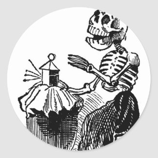 """Market Woman"" circa early 1900's. MEXICO. Classic Round Sticker"