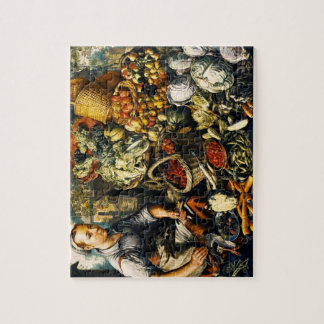 Market Woman with Fruit/Vegetables Puzzle with Tin