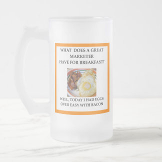 MARKETER FROSTED GLASS BEER MUG