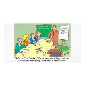 MARKETING / BANKING / BOARD MEETING finance gifts Custom Photo Card