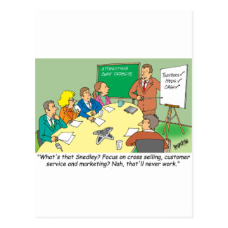 MARKETING / BANKING / BOARD MEETING finance gifts Postcard