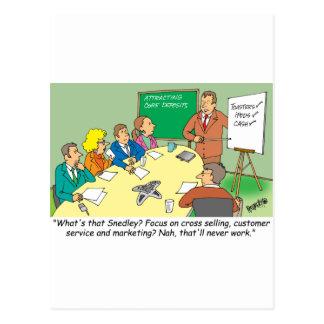 MARKETING / BANKING / BOARD MEETING finance gifts Postcard