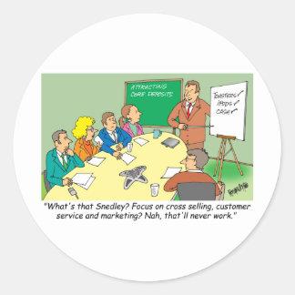 MARKETING / BANKING / BOARD MEETING finance gifts Round Sticker