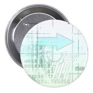 Marketing Business Strategy as a Abstract Concept Pinback Button