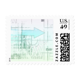 Marketing Business Strategy as a Abstract Concept Postage Stamps
