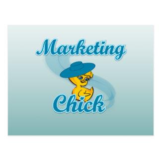Marketing Chick #3 Postcard