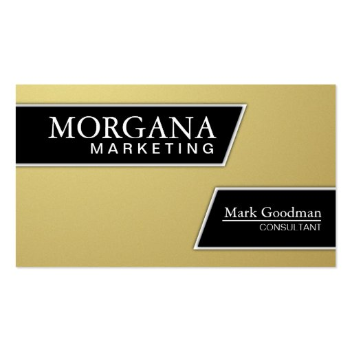 Marketing Consultant Business Card - Gold & Black